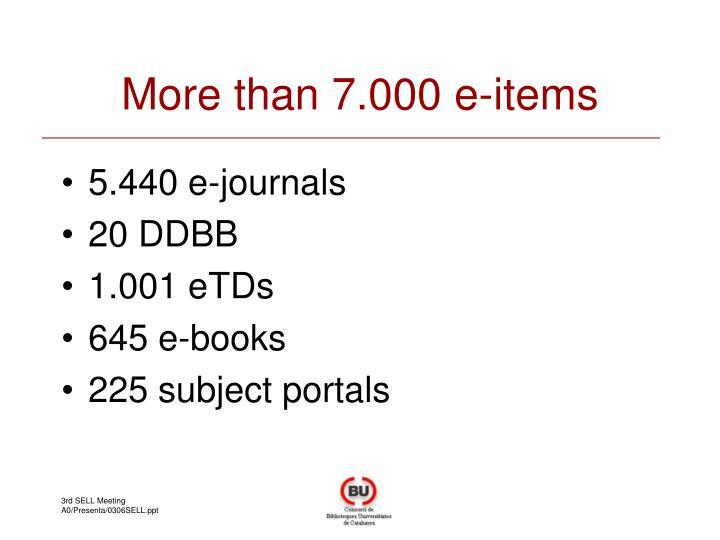 More than 7.000 e-items