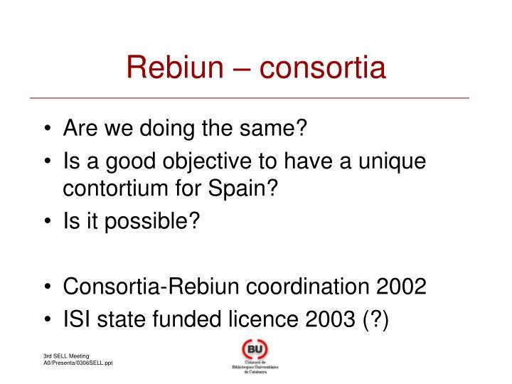 Rebiun – consortia
