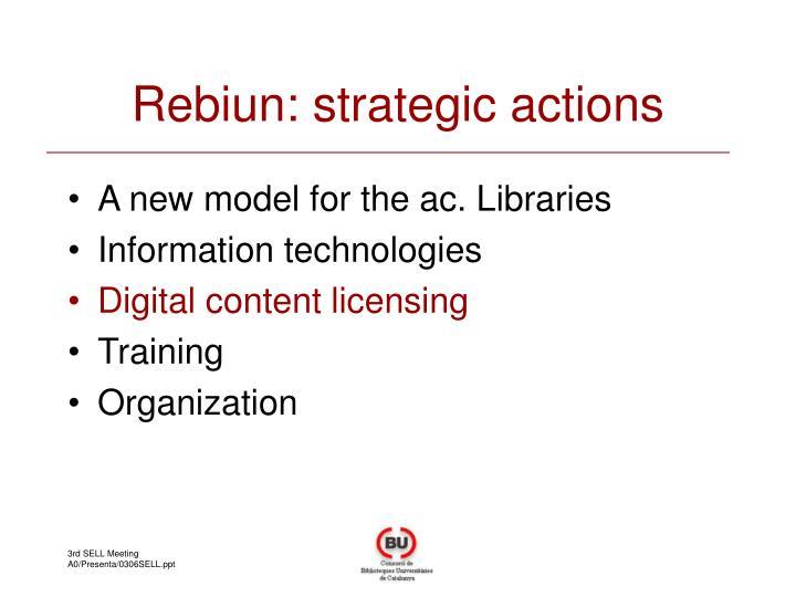 Rebiun: strategic actions