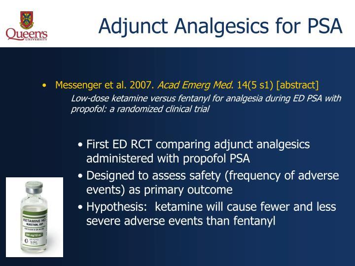 Adjunct Analgesics for PSA