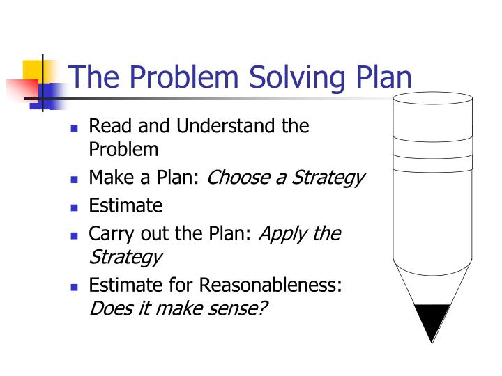 The problem solving plan