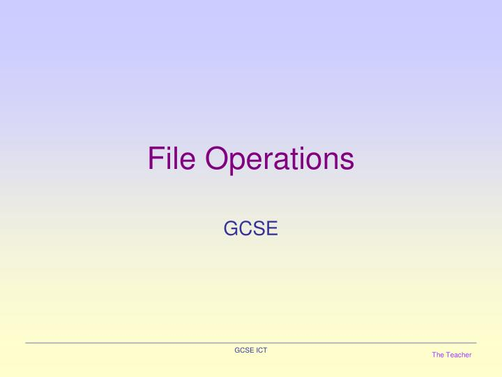 file operations n.