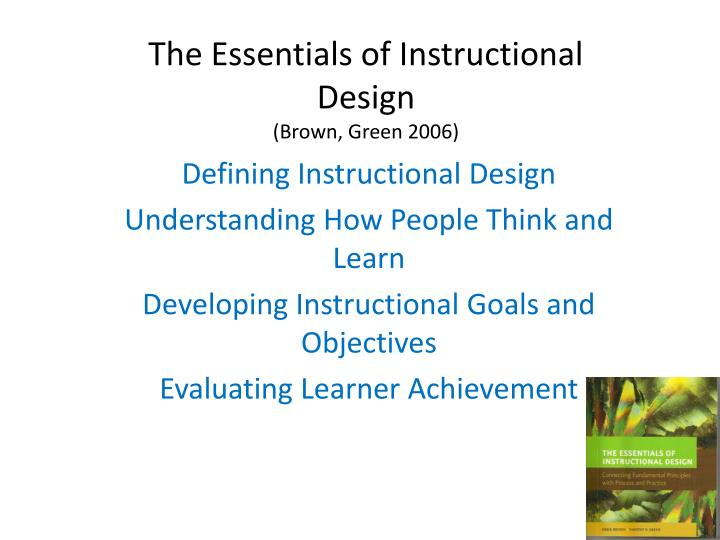 the essentials of instructional design brown green 2006 n.