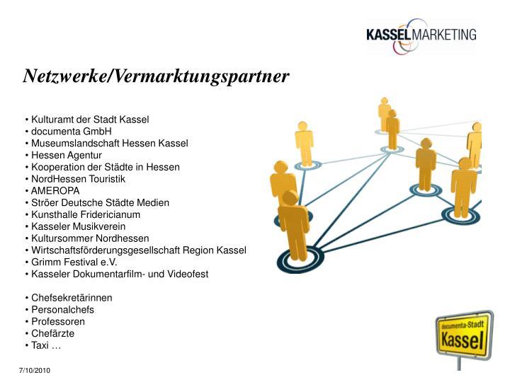 Netzwerke/Vermarktungspartner