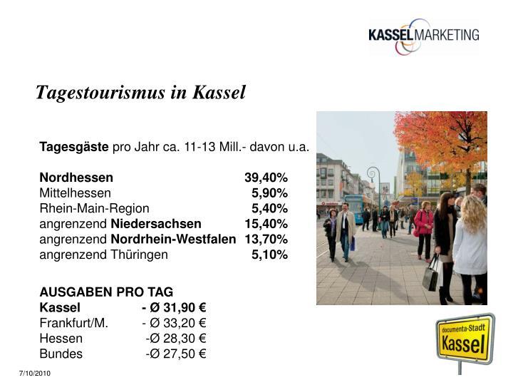 Tagestourismus in Kassel
