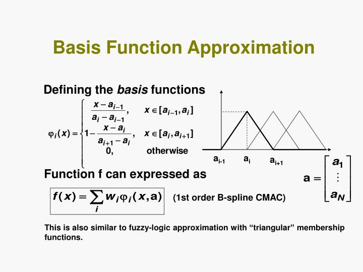 Basis Function Approximation