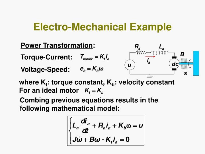 Electro-Mechanical Example