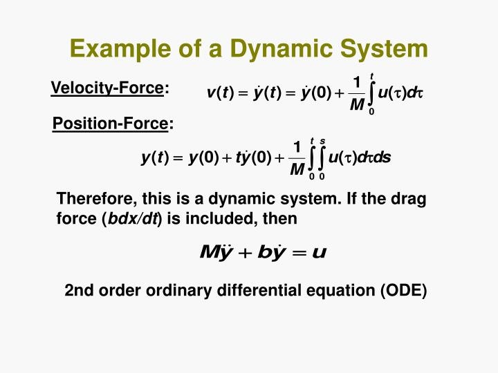 Example of a Dynamic System