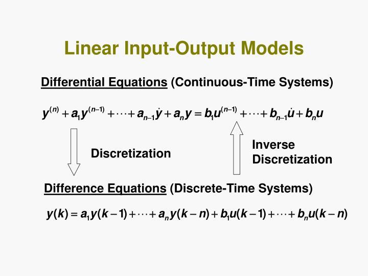 Linear Input-Output Models