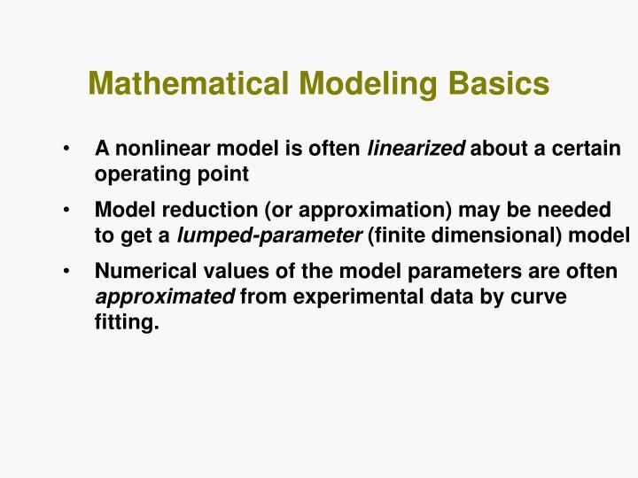 Mathematical Modeling Basics