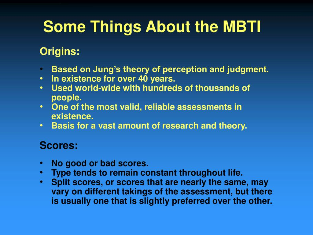 PPT - Using the MBTI In Career Decision Making PowerPoint