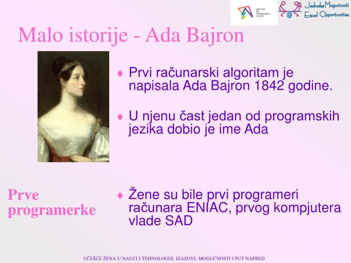 Malo istorije - Ada Bajron