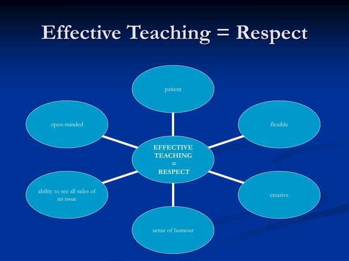Effective Teaching = Respect