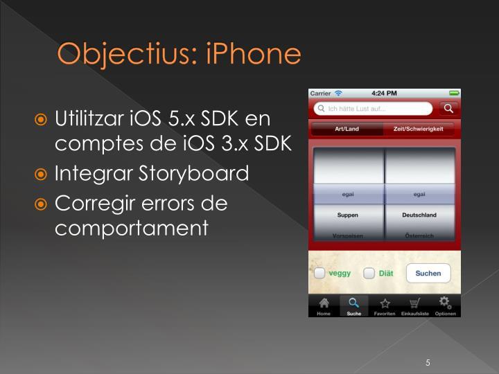 Objectius: