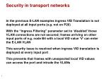 security in transport networks