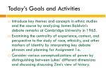 today s goals and activities