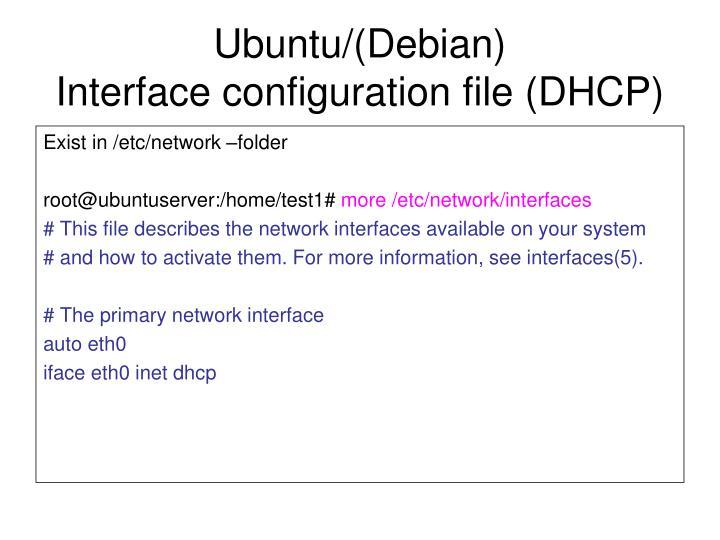 Ubuntu/(Debian)