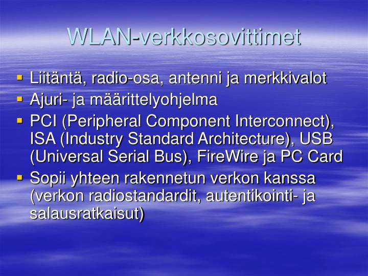 WLAN-verkkosovittimet
