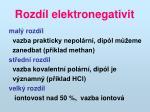 rozd l elektronegativit
