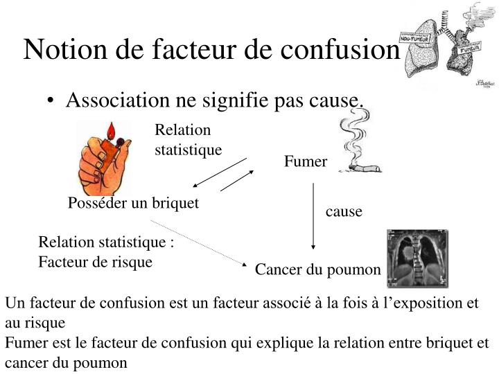 Notion de facteur de confusion