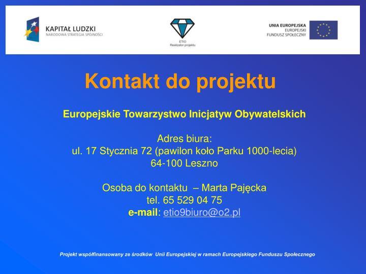 Kontakt do projektu