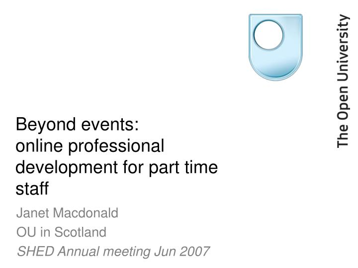 beyond events online professional development for part time staff n.