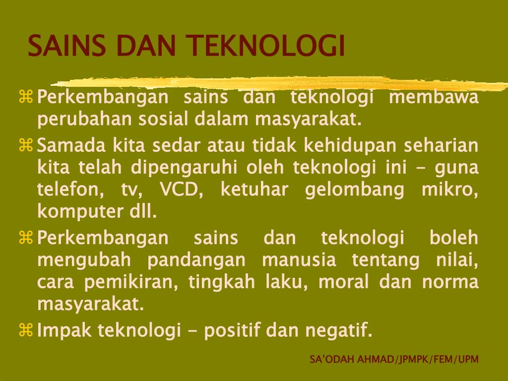 Ppt Sains Dan Teknologi Powerpoint Presentation Free Download Id 4084731