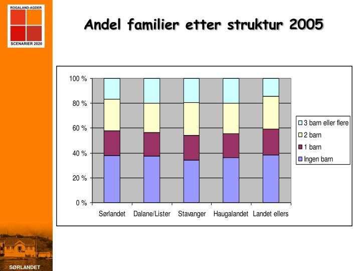 Andel familier etter struktur 2005
