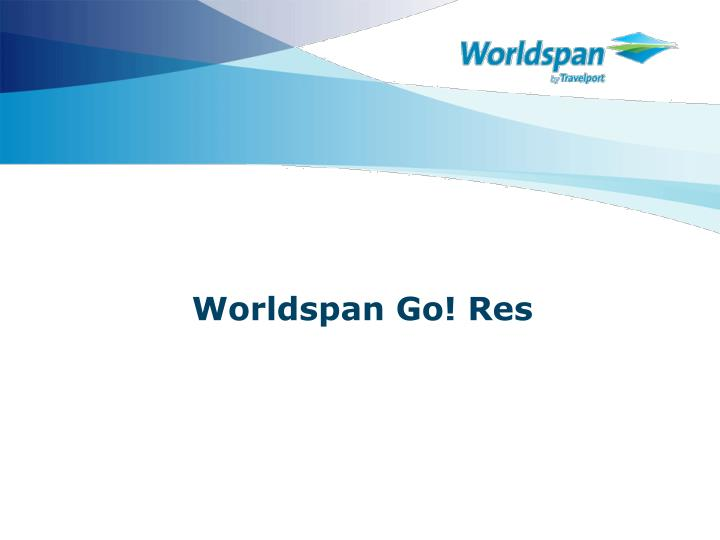 Worldspan go res