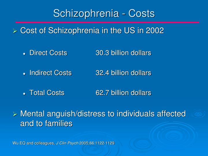 Schizophrenia - Costs