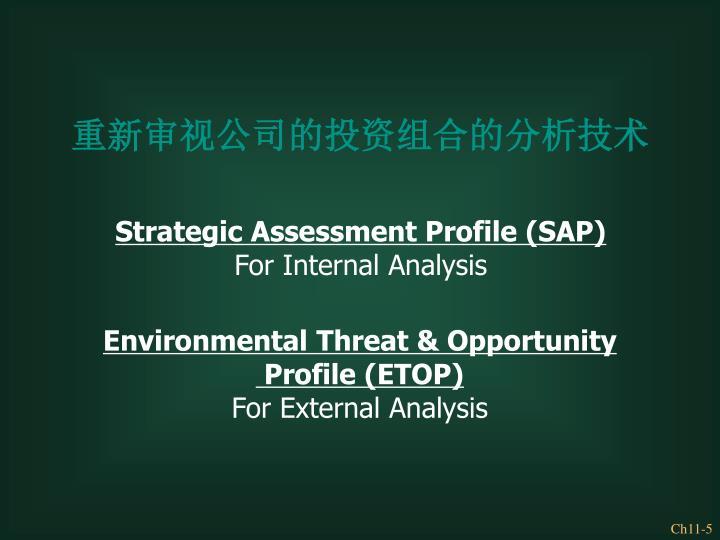重新审视公司的投资组合的分析技术
