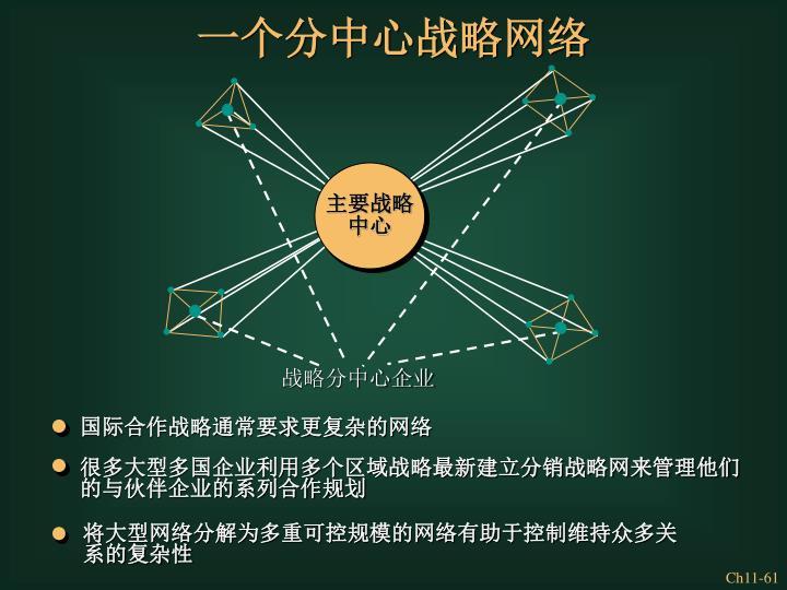 国际合作战略通常要求更复杂的网络