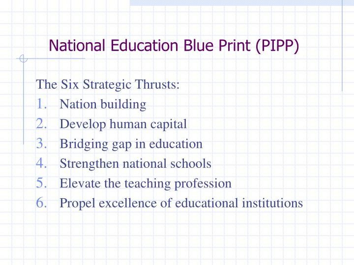 National Education Blue Print (PIPP)