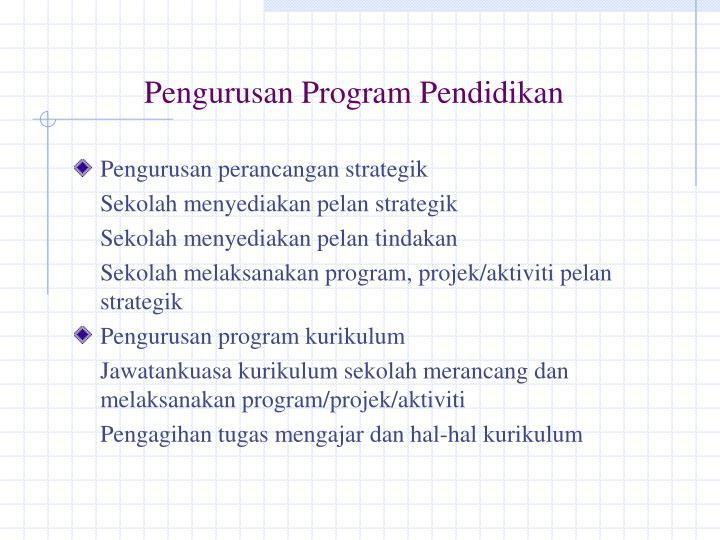 Pengurusan Program Pendidikan