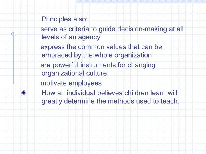 Principles also: