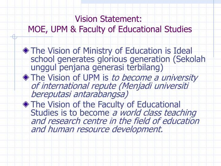 Vision Statement: