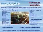 the vision of manufuture