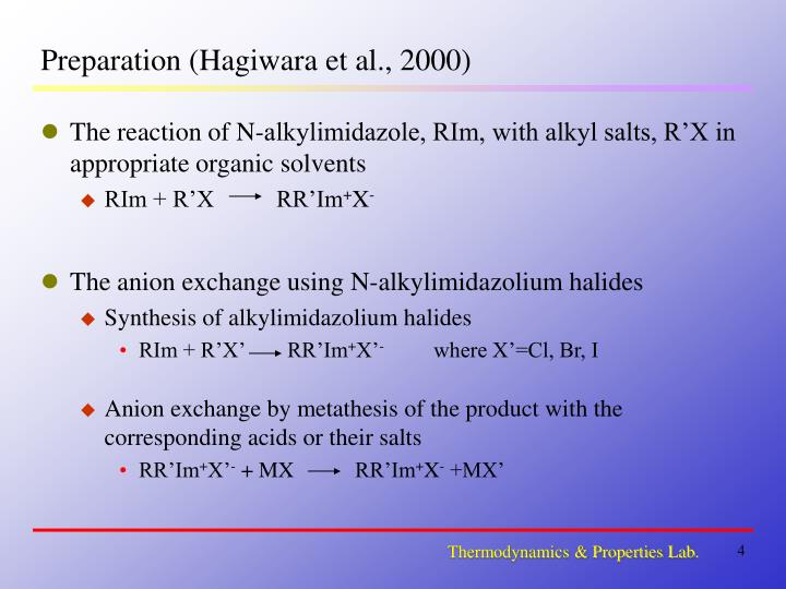 synthesis of a room temperature ionic liquid essay Based room temperature ionic liquids (rtils) on the critical micelle concentrations (cmc) of surfactants cmc of sodium dodecyl sulfate (sds), an anionic surfactant, has.