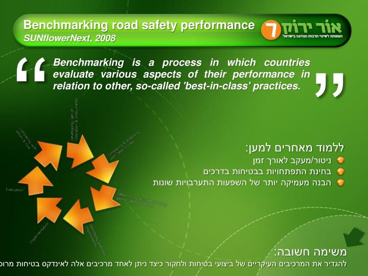 Benchmarking road safety performance sunflowernext 2008