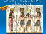 a fun way to combine test prep with social studies