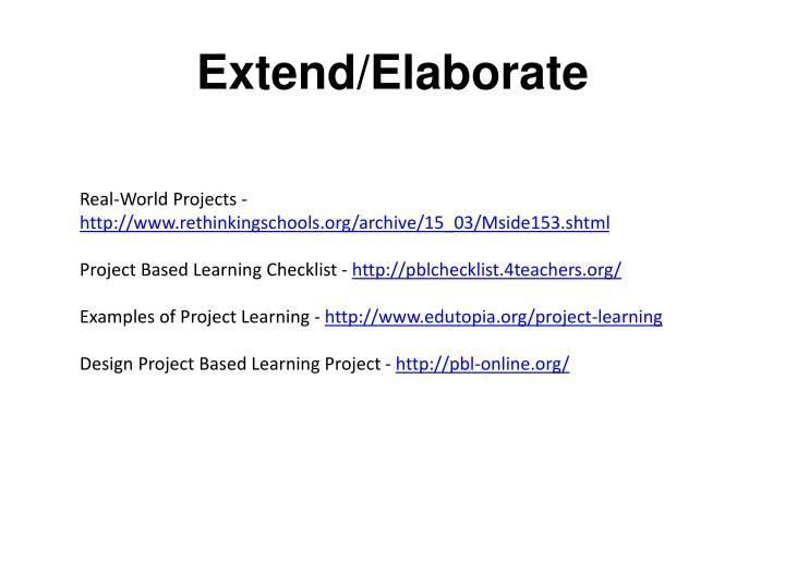 Extend/Elaborate