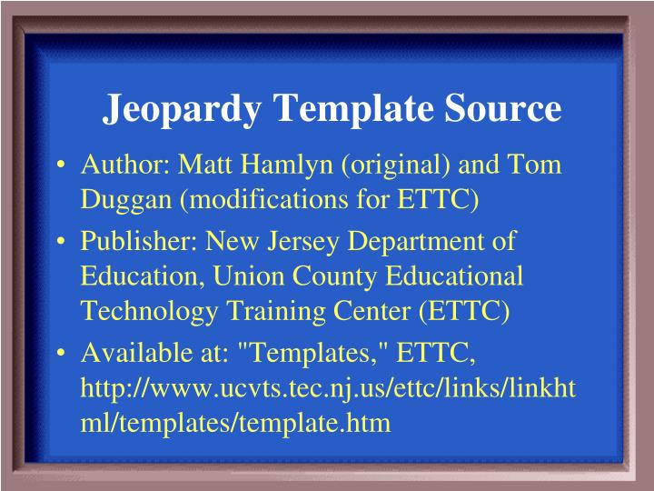 Ppt jeopardy template source powerpoint presentation id4086067 jeopardy template source maxwellsz