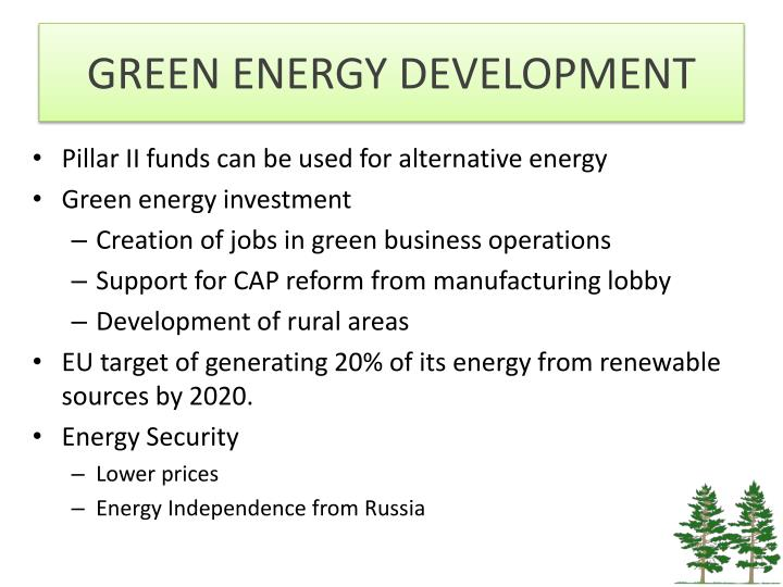 GREEN ENERGY DEVELOPMENT