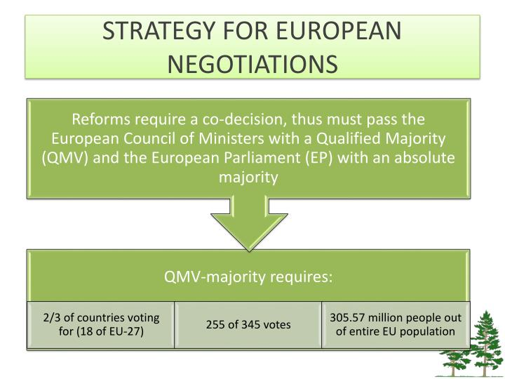 STRATEGY FOR EUROPEAN NEGOTIATIONS