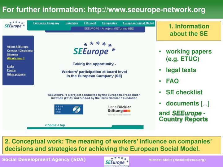 For further information: http://www.seeurope-network.org