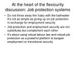 at the heart of the flexicurity discussion job protection systems