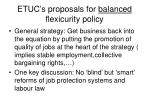 etuc s proposals for balanced flexicurity policy