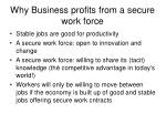 why business profits from a secure work force