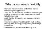 why labour needs flexibility