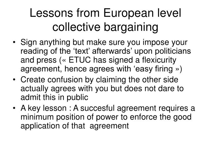 reflections on collective bargaining from a Bargaining power is a reflection of the internal dynamics of the union as much as it is a function of relationships with the relevant employers the power of a bargaining committee relative to the employer is directly affected by the capacity of the committee to operate on a solid base of membership support.